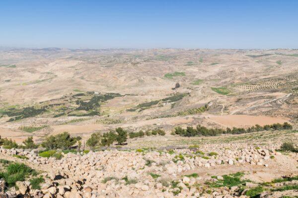 Vue depuis le Mont Nébo en Jordanie