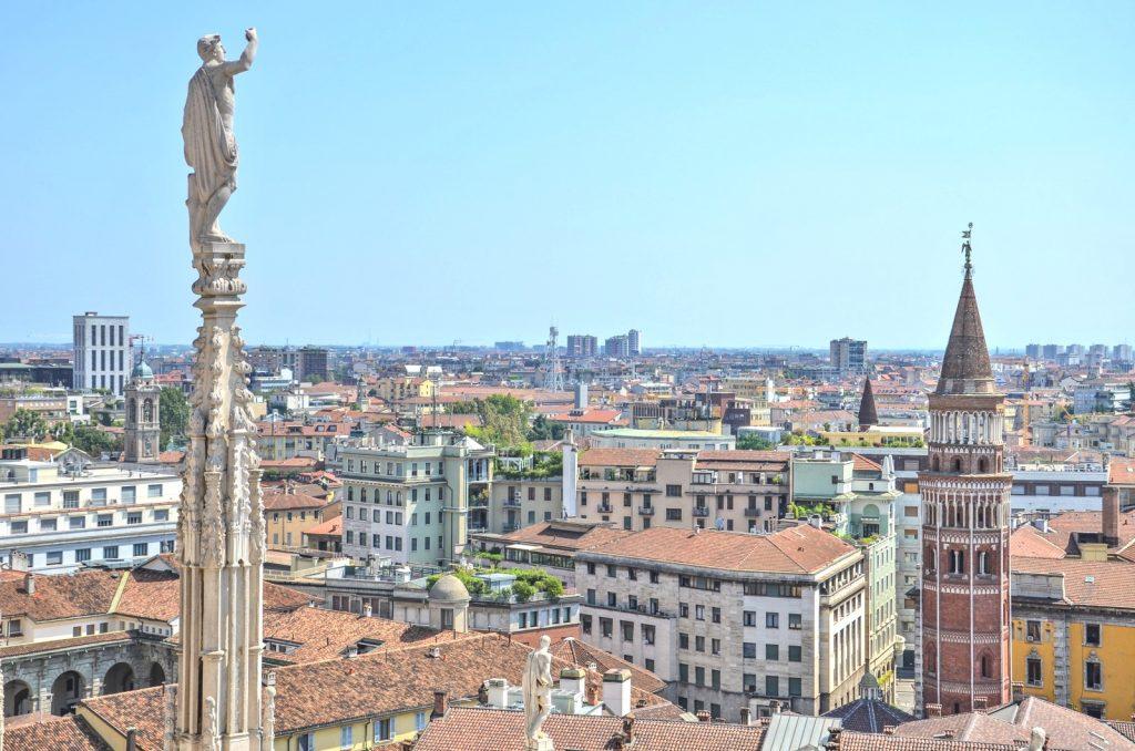 Vue depuis la terrasse du dôme de Milan