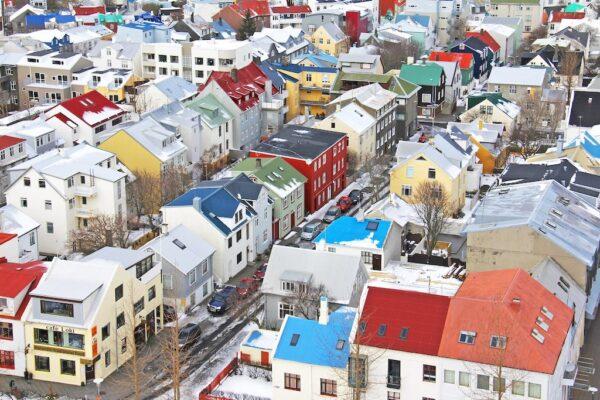 Panorama sur le centre-ville de Reykjavik