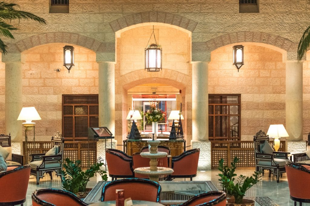 Patio de l'hôtel Mövenpick Resort Petra