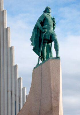 Statue de Leif Eriksson à Reykjavik en Islande