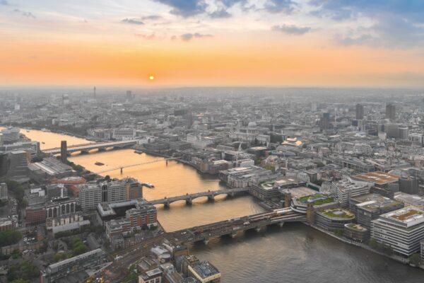 Vue panoramique sur Londres