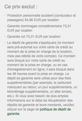 Processus de réservation Europcar