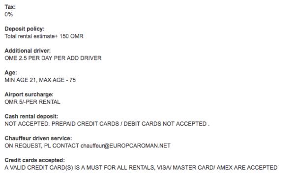 Avis sur Europcar : processus de réservation