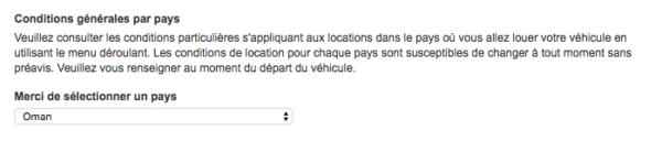 Processus réservation Europcar dépôt de caution