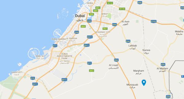 Hôtel dans le désert de Dubaï : carte de l'hôtel Al Maha