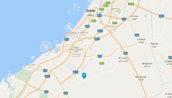 Carte de l'hôtel Bab al Shams dans le désert de Dubaï