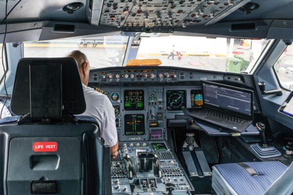 Cockpit au vol retour du Mexique