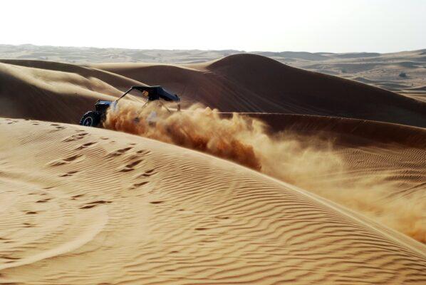 Quad dans le désert de Dubaï