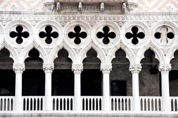 Façade du palais des Doges de Venise