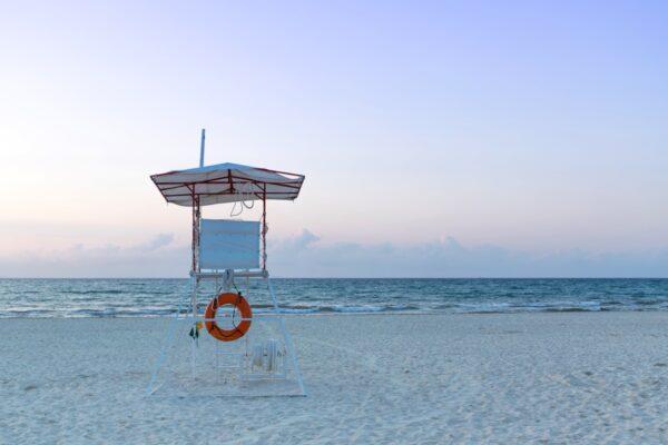 Lever de soleil sur la plage du Viva Wyndham