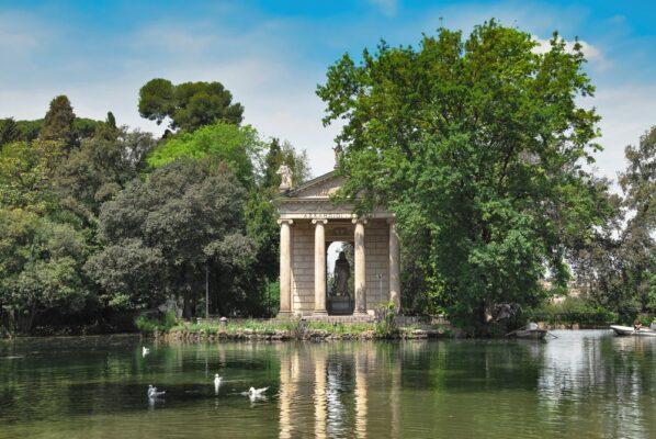 Parc Villa Borghese à Rome