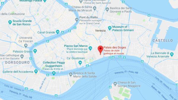 Plan du palais des Doges à Venise