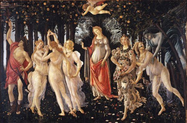 Primavera de Botticelli à la galerie des Offices