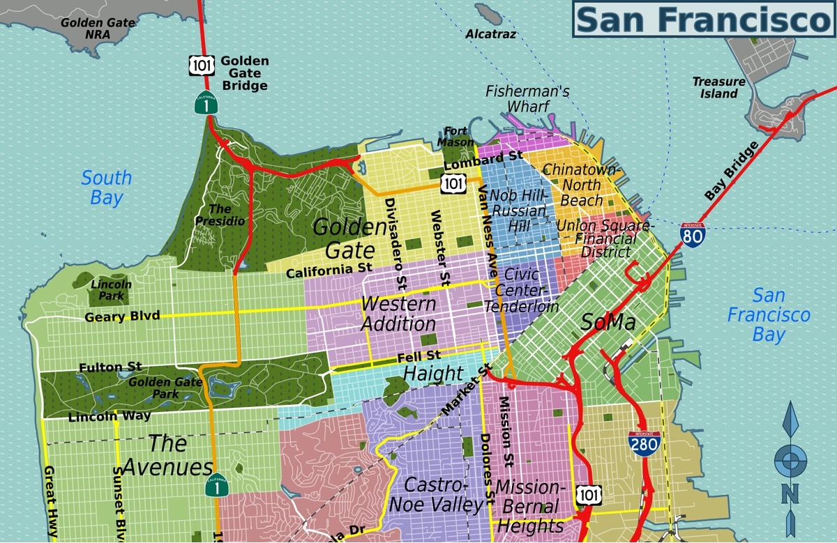 Carte de San Francisco