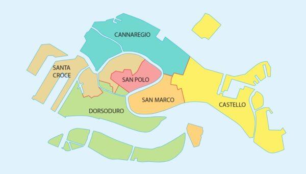 Quartiers de Venise où dormir
