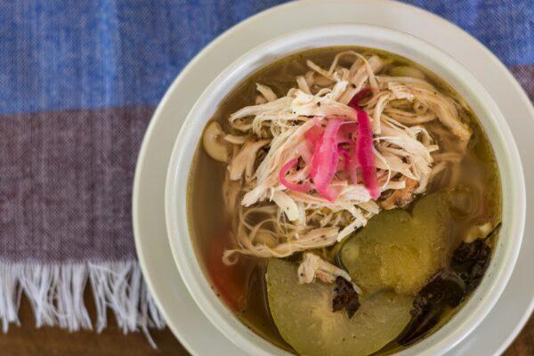 Repas dans une communauté maya dans le Yucatan