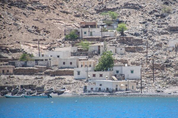 Petit village dans les fjord d'Oman