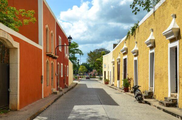 Ville coloniale dans le Yucatan au Mexique