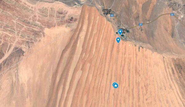 Wahiba Sands : coordonnées GPS d'un spot pour camping sauvage