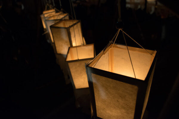 Lanterne durant Loy Krathong à Chiang Mai