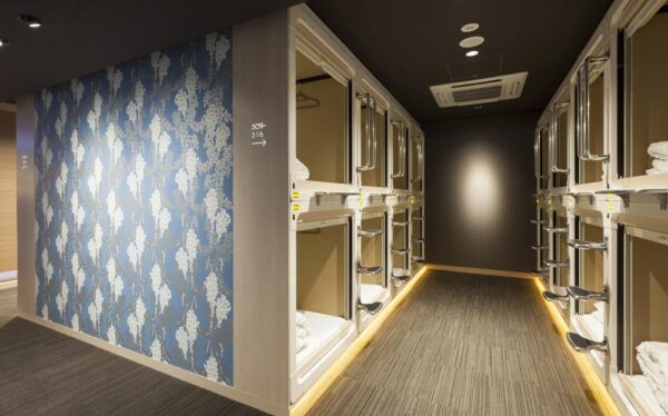 Où dormir à Tokyo : capsule hotel