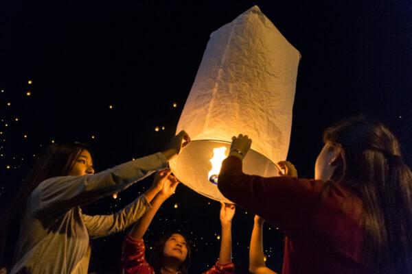 Yi Peng festival à Chiang Mai