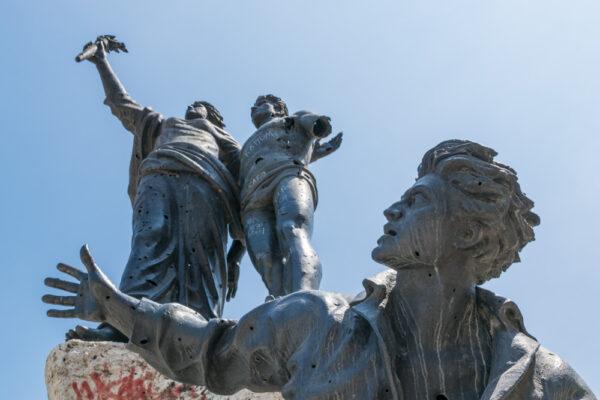 Statue de la place des Martyrs à Beyrouth au Liban