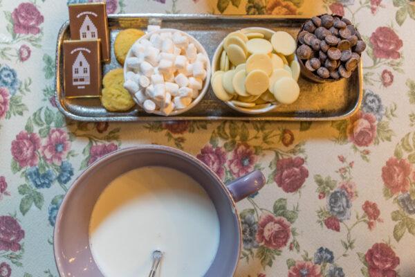 Chocolat chaud à Bruges