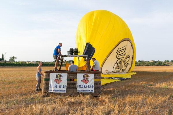 Fin du vol en montgolfière à Majorque