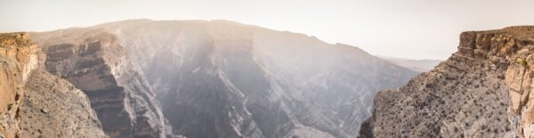 Panorama sur le Grand Canyon d'Oman