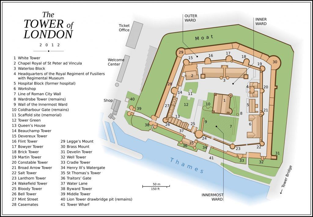 Plan de la Tour de Londres