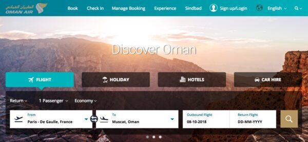 Réserver un vol Oman Air : avis