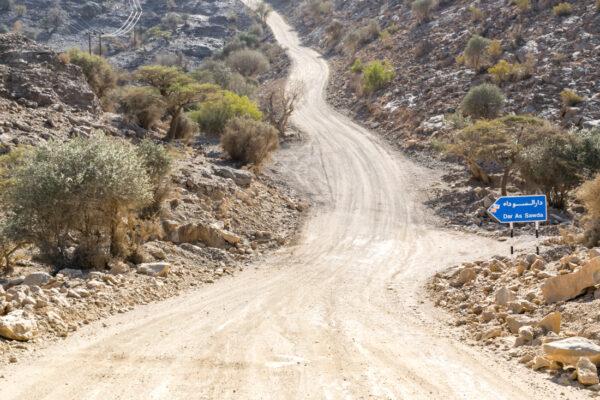 Route menant au jebel Shams
