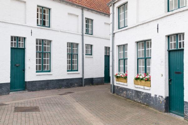 Ruelles de Bruges en Belgique