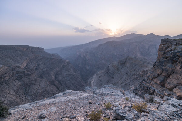 Sunset au jebel Akhdar