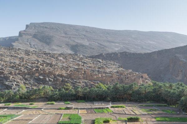 Village abandonné à l'entrée du Wadi Ghul / Wadi Nakhr