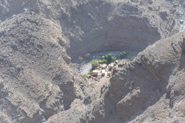 Village An Nakhr au fond du Wadi Ghul