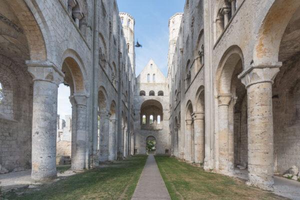 Abbaye en Jumièges en Normandie