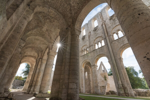 Abbaye de Jumièges dans le parc naturel régional des Boucles de la Seine