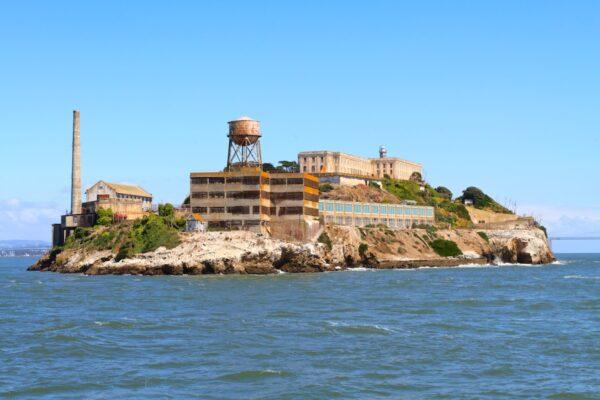 En bateau vers l'île d'Alcatraz
