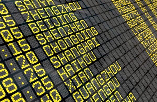 Billet d'avion pour la Chine