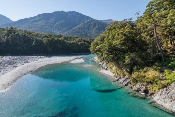 Blue Pools en NZ