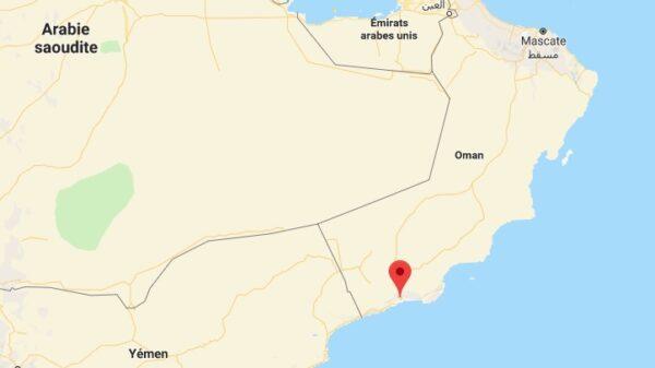 Carte de Salalah à Oman