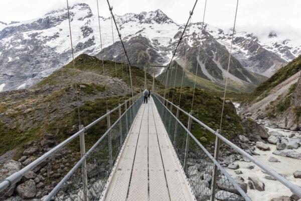 Hooker Valley Track en NZ