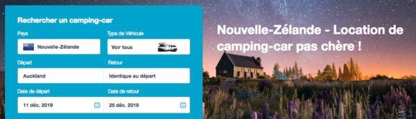 Location de camping-car en Nouvelle-Zélande