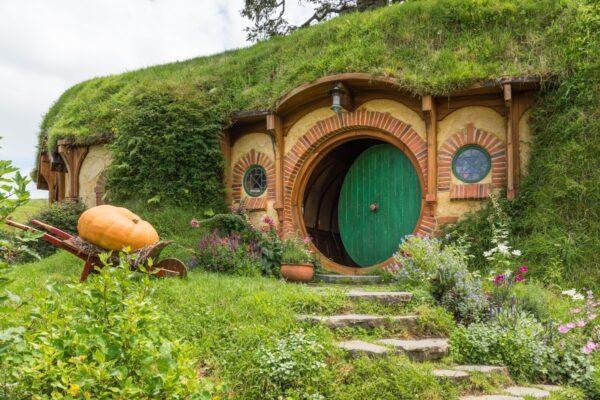 Maison de Frodon et Bilbon Sacquet à Hobbiton