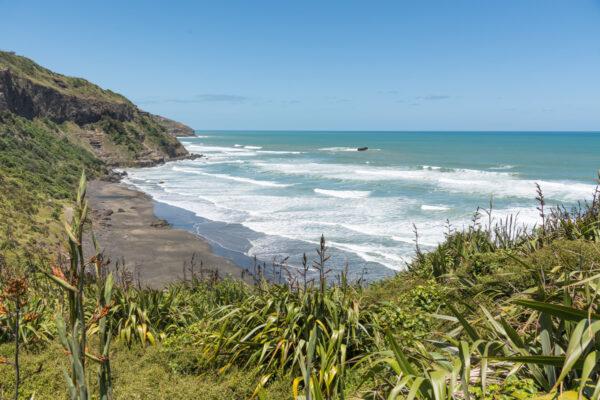 Muriway beach en Nouvelle-Zélande