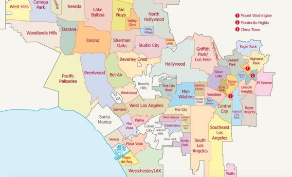 Quartiers de Los Angeles