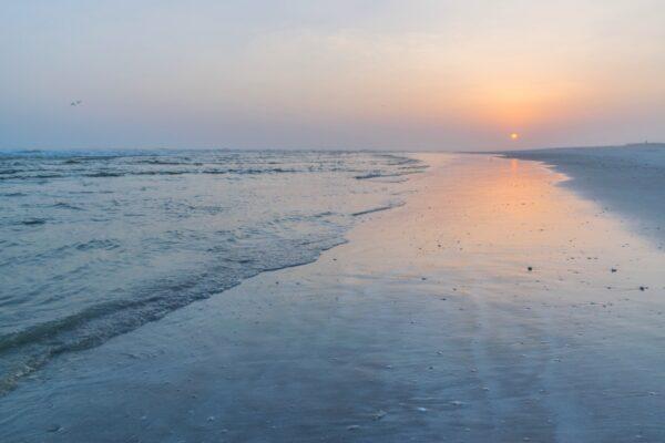 Sunset sur une plage du Dhofar à Oman